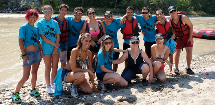 A image of a group of young people with aniridia from Summer Camp in 2015