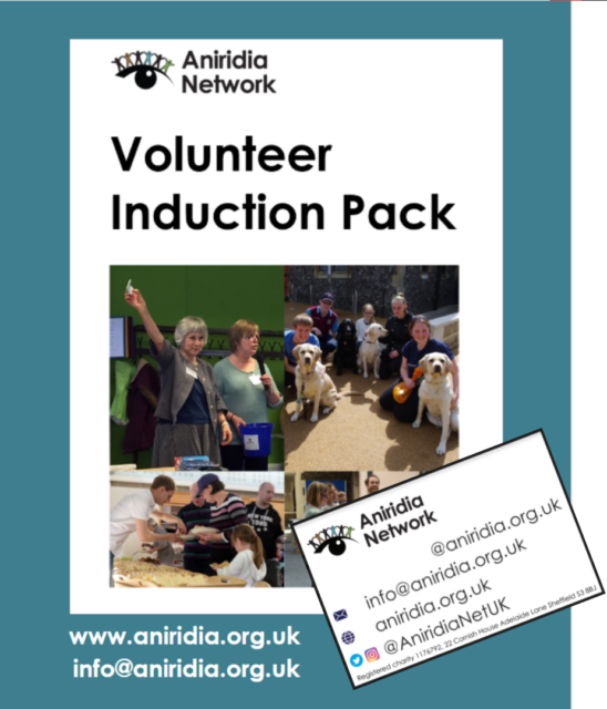 Front page of the Volunteer Induction Pack